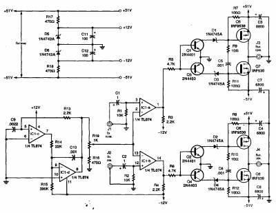Транзистор Q1, диод D1 и