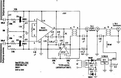 Эта активная антенна работает так же, как и обычный диполь, и состоит из исто-кового повторителя на.