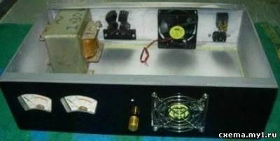 електро схема УНЧ на транзисторах ...