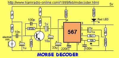 Работа цифровых микросхем -> 567 Tone Decoder
