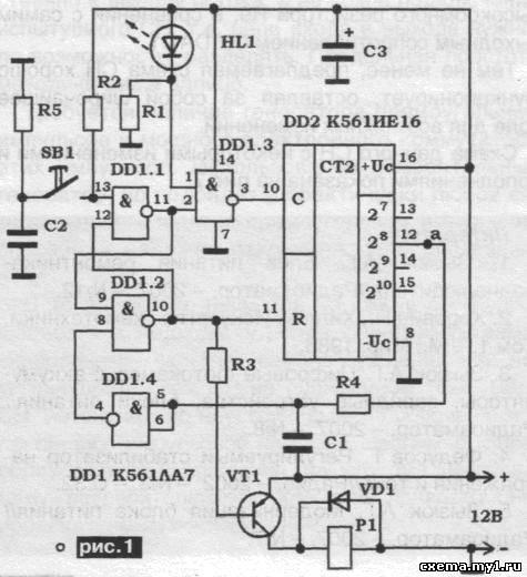 счетчика DD2 типа К561ИЕ16
