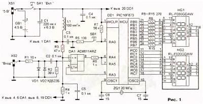 Частотомер на микроконтроллере.