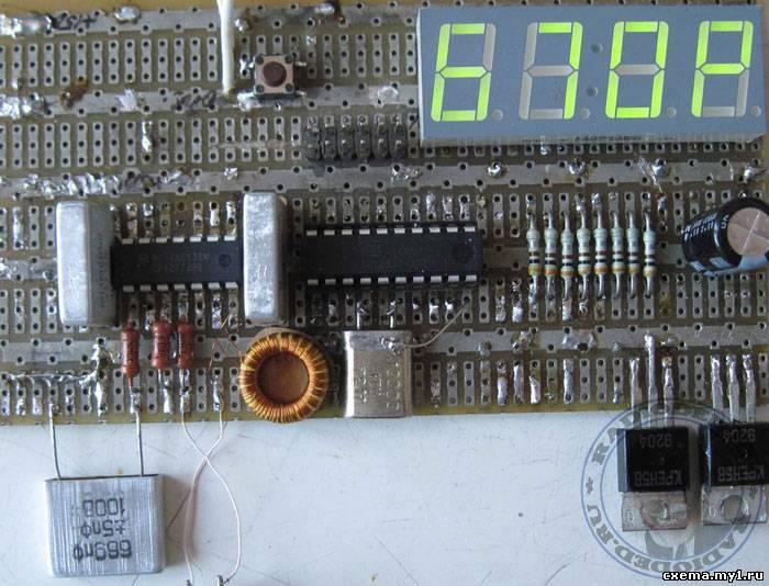 Измеритель ёмкости конденсаторов на микроконтроллере
