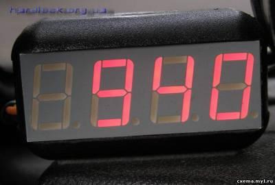 Тахометр питается от 12 вольт и способен измерить обороты в... Лучше всего ставить индикатор красного цвета...