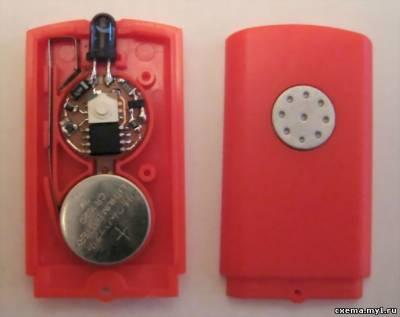 Дверная охранная сигнализация на микроконтроллере с ИК-управлением