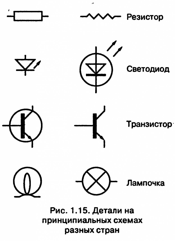 Радиотехника обозначения на схемах